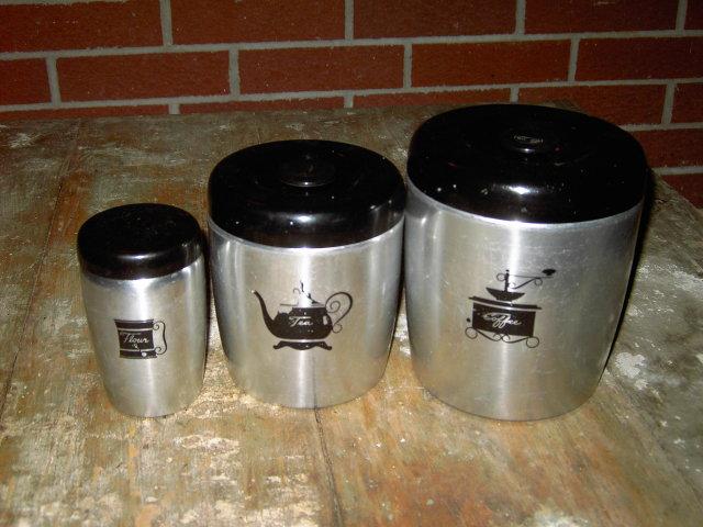 WEST BEND ALUMINUM CANNISTER COFFEE TEA FLOUR STORAGE CONTAINER TUB