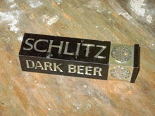 SCHLITZ DARK BEER ADVERTISING KEG TAP HANDLE BAR ACCESSORY
