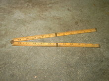 CARPENTERS FOLDING RULER WARRANTED BOXWOOD MEASURING STICK