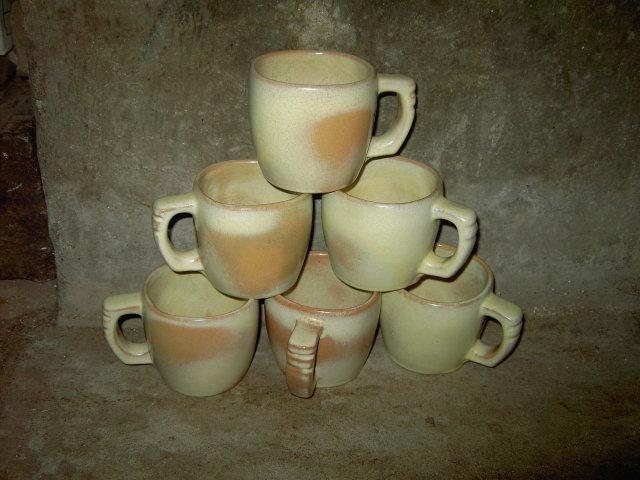 FRANKOMA IVORY BIEGE GLAZE POTTERY MUG COFFEE CUP