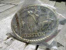 HESSTON NATIONAL FINALS RODEO 1982 ALL AROUND COWBOY BELT BUCKLE