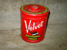 VELVET AMERICA'S SMOOTHEST SMOKE TOBACCO STORAGE CANNISTER TIN CAN