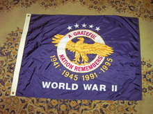 WORLD WAR TWO COMMEMORATIVE SOLDIER FLAG GRATEFUL NATION REMEMBERS UNITED STATES MILITARY BANNER