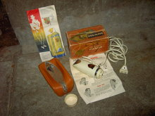 RIAM SWISS MADE ELECTRIC RAZOR BEARD SHAVER SWITZERLAND CARDBOARD BOX SHAUGHNESSY SALES OMAHA NEBRASKA ADVERTISING FLYER