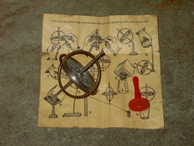 WONDERFUL GYROSCOPE PRECISION INSTRUMENT DEPRESSION ERA TOY