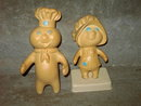 PILLSBURY POPPIE FRESH DOUGHGIRL POPPIN DOUGH BOY TOY DOLL FIGURINE SET