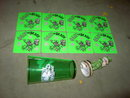SAINT PATRICKS DAY IRISH TOAST FIGURINE OLY OLYMPIA BEER STICKER DECAL BUDWEISER BUD LIGHT GREEN PLASTIC SHAMROCK TUMBLER CUP