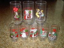HOLLY HOBBIE CARTOON GLASS TUMBLER COKE COCA COLA AMERICAN GREETINGS COLLECTOR UTENSIL