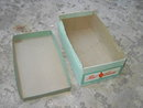 RED GOOSE SHOEBOX CHILDRENS SIZZLER FOOT APPAREL ADVERTISING CARDBOARD BOX