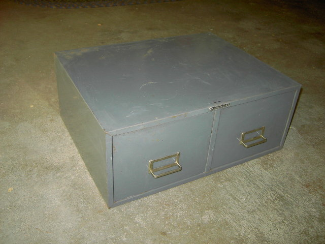 STEELMASTER FILE BOX CABINET STORAGE DRAWER ART STEEL NEW YORK ADVERTISING EMBLEM