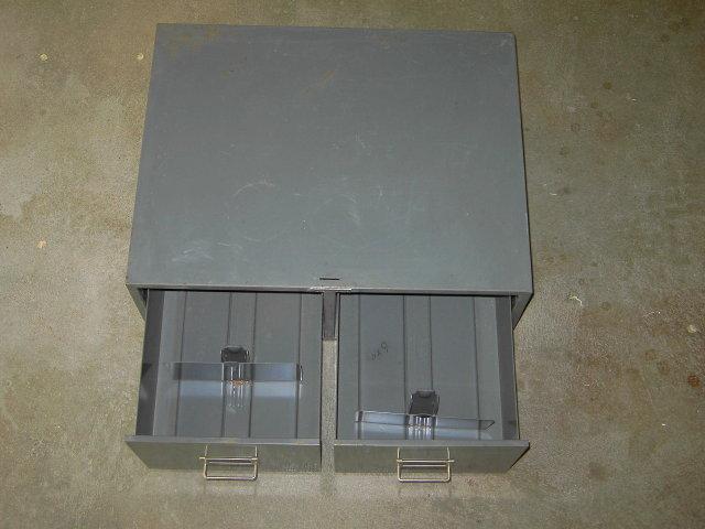 STEELMASTER FILE BOX CABINET STORAGE DRAWER ART STEEL NEW YORK ADVERTISING EMBLEM