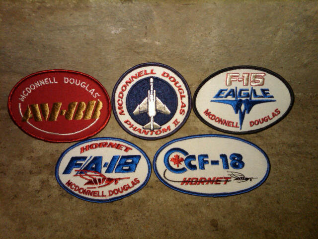 MCDONNELL DOUGLAS PHANTOM F 15 EAGLE F/A 18 HORNET CANADIAN FIGHTER AV 8B JACKET PATCH MILITARY FIGHTER AIRPLANE COLLECTIBLE APPAREL ACCESSORY