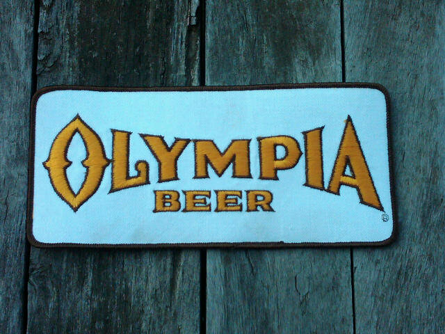 OLYMPIA BEER CLOTH PATCH WASHINGTON STATE BREWING COLLECTIBLE GARMENT DECORATION