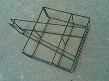STEEL WIRE BOTTLE TOTE CARRIER BASKET