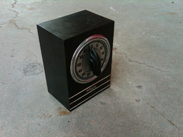 HOTPOINT BLACK BAKELITE OVEN TIMER EDISON ELECTRIC COMPANY ART DECO KITCHEN TOOL