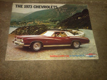 CHEVROLET 1973 DEALER MERCHANDISING CATALOG PASSENGER AUTOMOBILE SALES PAMPHLET CAR CUSTOMER FLYER