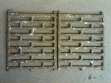 CAST IRON FURNACE HEATER GRATE DECORATIVE METAL TRIVET PLATE