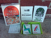 MILLE BORNES FRENCH CARD GAME PARKER BROTHERS RETRO ERA FAMILY PASTIME