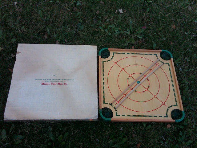 CAROM CROKINOLE WOODEN GAME BOARD GAMING DEVICE MERDEL LUDINGTON MICHIGAN ORIGINAL BOX