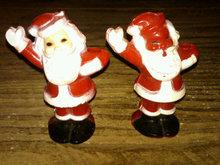 CHRISTMAS SANTA CLAUS CANDY CONTAINER PLASTIC XMAS FIGURINE ORNAMENT