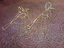 STEEL WIRE ANGEL STATUE CANDLEHOLDER CHRISTMAS HOLIDAY ORNAMENT DECORATION