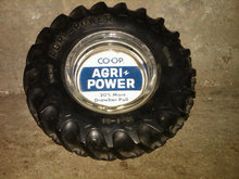 CO OP AGRI POWER TRACTOR TIRE ASHTRAY CIGAR CIGARETTE SMOKING ACCESSORY FARM IMPLEMENT DEALER DESK UTENSIL