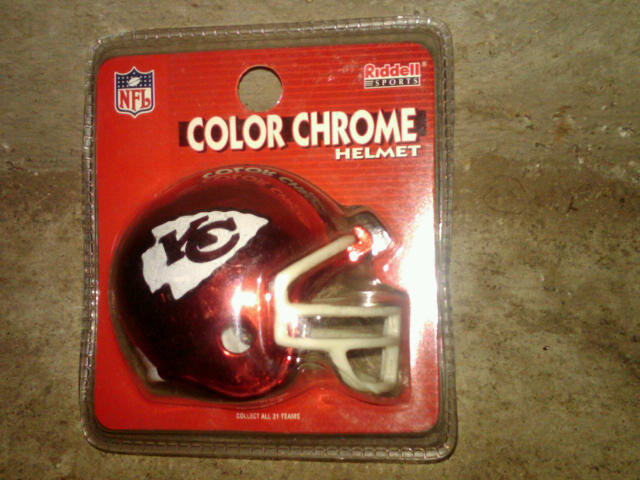 KANSAS CITY CHIEFS TOY FOOTBALL HELMET RIDDELL SPORTS NFL COLLECTIBLE