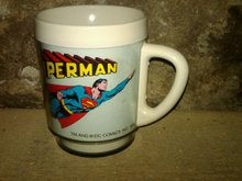 SUPERMAN PLASTIC MUG COLLECTORS CUP CHRISTOPHER REEVE MOVIE PICTURE DAWN PASSAIC NEW JERSEY MARK