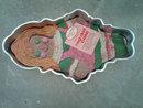 RAG DOLL ALUMINUM CAKE MOLD SUGAR PLUM PARTY PAN WILTON 1971 DESSERT BAKING ACCESSORY