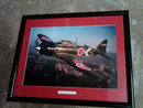 MITSUBISHI ZERO WAR AIRPLANE PICTURE FRAMED POSTER A6M5 52 TYPE 0 WORLD WAR TWO PLANE COLLECTIBLE
