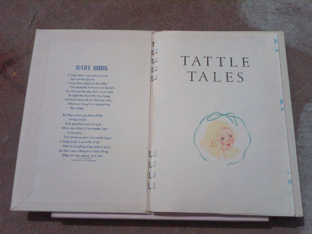 DEE'S TATTLE TALES BABY BOOK INFANT RECORD LEDGER GIVENS COMPANY WESTERN SPRINGS ILLINOIS ORIGINAL BOX COPYRIGHT 1942 DATE