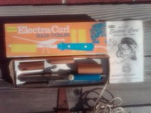 Electra Curl Retro Hair Curler Beauty Tool Standard Whitman Massachusetts Original Box