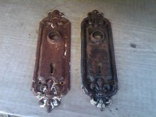 DOORKNOB LATCH KEY HOLE BACK PLATE VICTORIAN DOOR HARDWARE DECORATION