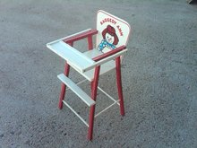 RAGGEDY ANN WOODEN HIGH CHAIR DOLL SEAT CHILD FURNITURE