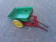 DUMPING WAGON DUMP STYLE TOY TRAILER PAINTED STEEL CART