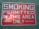 SMOKING PERMITTED BAR LOUNGE OFFICE ESTABLISHMENT SIGN DECORATIVE WALL FIXTURE DORM ROOM DOOR DECORATION