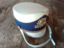 DRUM MAJORETTE BATON MAJOR BAND HAT MARCHING LEADER HEAD CAP PARADE FESTIVAL HEADGEAR PIECE