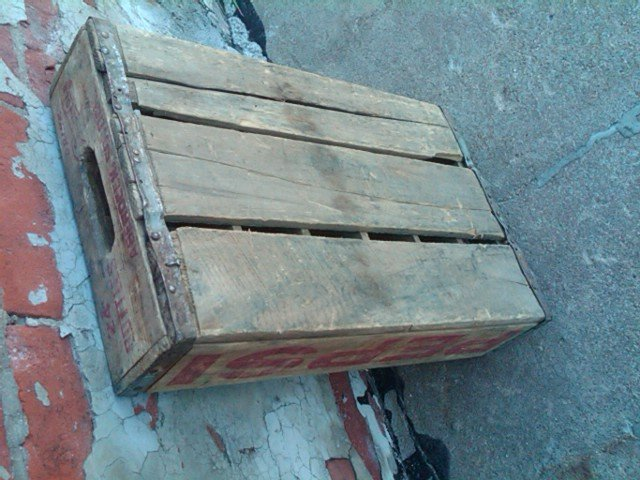 ABERDEEN SOUTH DAKOTA PEPSI COLA CRATE SOFT DRINK BOTTLE TOTE WOODEN CARRIER CASE WOOD BOX