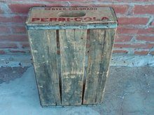 DENVER COLORADO PEPSI COLA CRATE SOFT DRINK SODA POP BOTTLE TOTE WOODEN CARRIER CASE