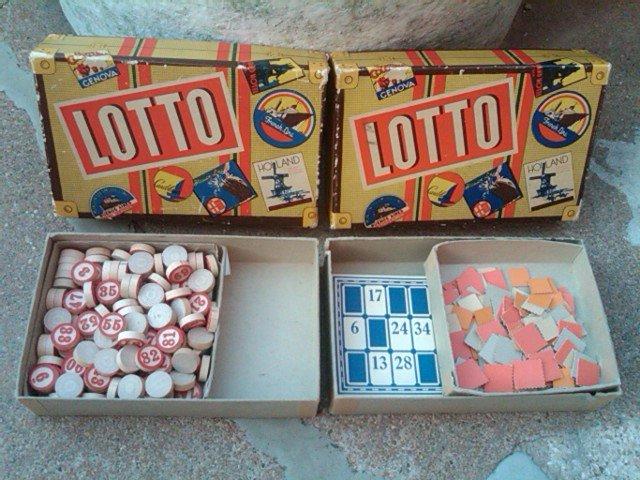 LOTTO BOARD GAME DEPRESSION ERA PASTIME WHITMAN PUBLISHING RACINE WISCONSIN ORIGINAL BOX