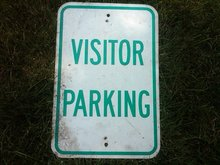 VISITOR PARKING SIGN OFFICE WALL DECORATION DORM ROOM DOOR ORNAMENT