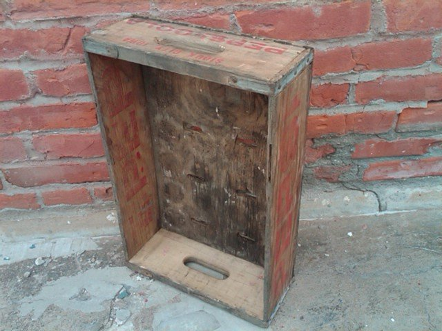 SIOUX CITY IOWA PEPSI COLA CRATE SOFT DRINK SODA POP BOTTLE TOTE CARRIER CASE WOODEN BOX