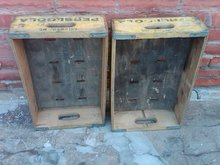 COLUMBIA MISSOURI PEPSI COLA CRATE SOFT DRINK SODA POP BOTTLE TOTE CARRIER CASE WOODEN BOX