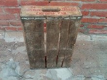 EMPORIA KANSAS PEPSI COLA CRATE SOFT DRINK SODA POP BOTTLE TOTE CARRIER CASE WOODEN BOX