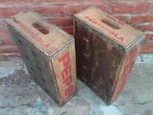 OMAHA NEBRASKA PEPSI COLA CRATE SOFT DRINK SODA POP BOTTLE TOTE WOODEN CARRIER CASE BOX
