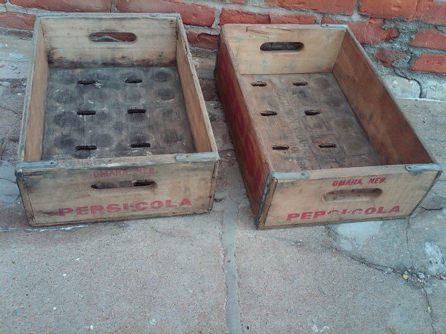 OMAHA NEBRASKA PEPSI COLA CRATE SOFT DRINK SODA POP BOTTLE TOTE WOODEN CARRIER CASE BOX