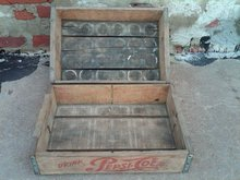 OMAHA NEBRASKA PEPSI COLA CRATE SOFT DRINK SODA POP BOTTLE BEVERAGE TOTE WOODEN CARRIER CASE BOX