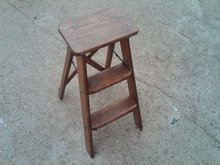 WOODEN STEP LADDER GARDEN PLANT STAND HINGED STYLE STEPLADDER