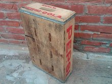 MEMPHIS MISSOURI PEPSI COLA CRATE SOFT DRINK SODA POP BOTTLE BEVERAGE CARRIER TOTE CASE WOODEN BOX
