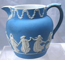 Antique Wedgwood Blue Jasperware Milk Pitcher